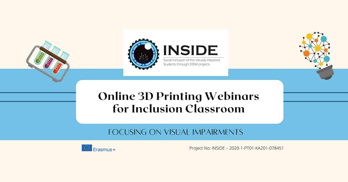 3D Printing Online Webinars for Inclusion Classroom featured